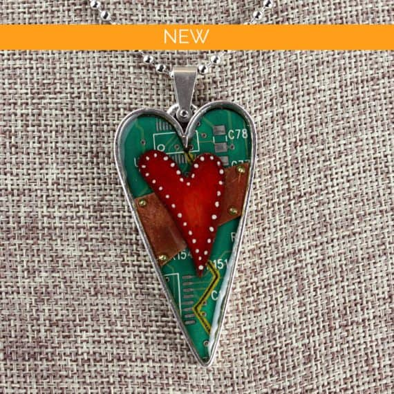 Mended Hearts Pendant Silver