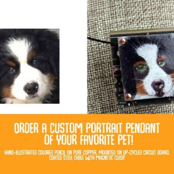Custom Illustrated Pet Pendant