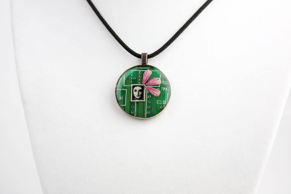 Ghost In The Machine Circuit Board Pendant