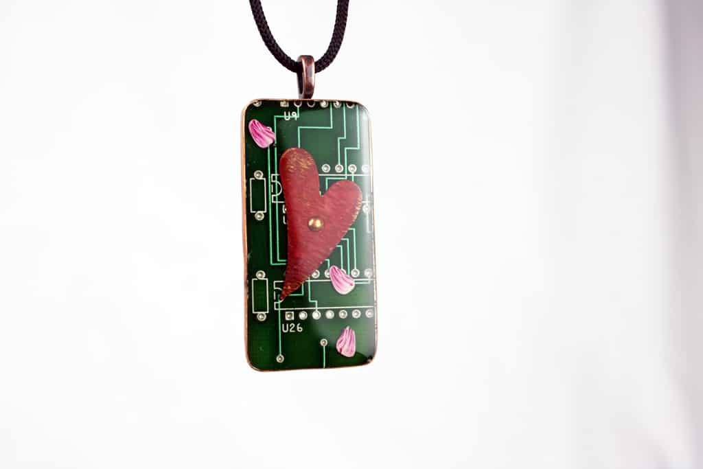 Heart Of Silicon Circuit Board Pendant