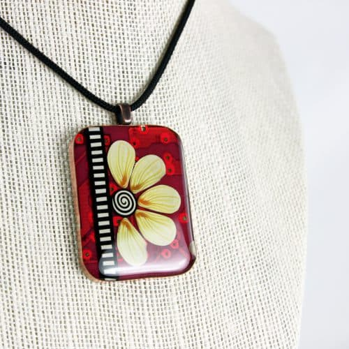 Spring Bloom Circuit Board Pendant