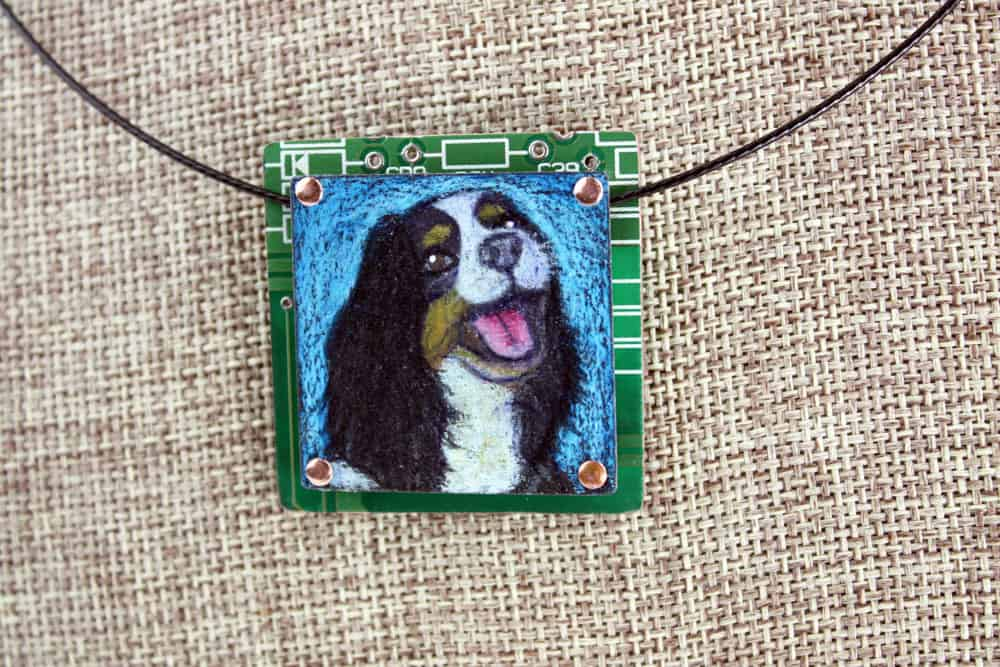 King Charles Spaniel Hand-Illustrated Pendant