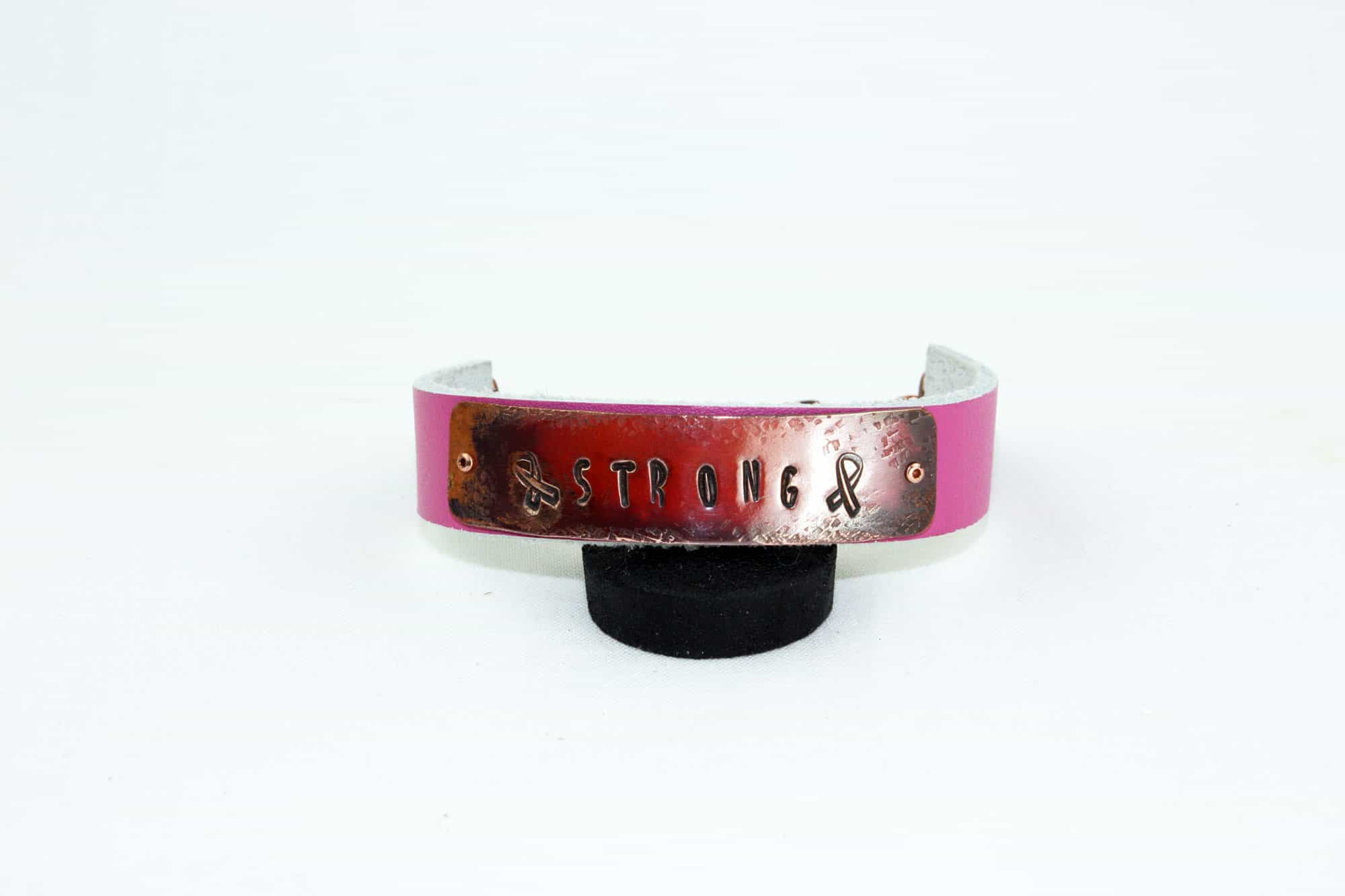 Strong Copper and Leather Bracelet