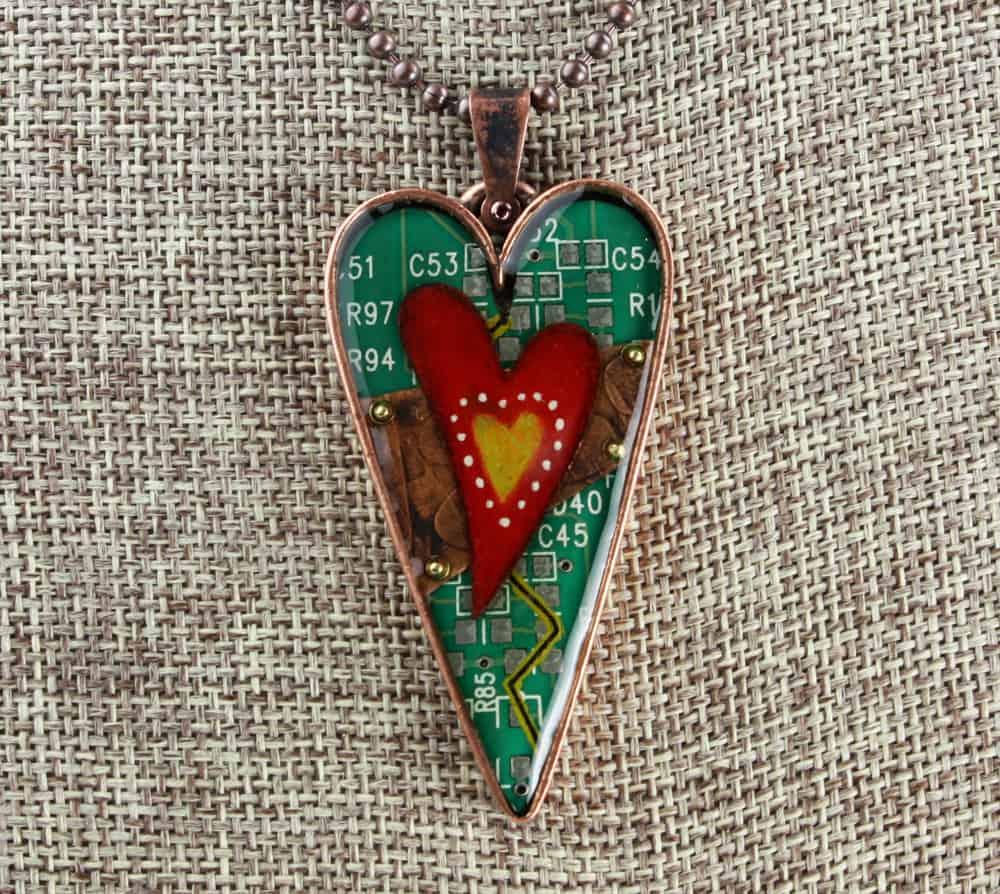 Mended Heart Pendant Copper