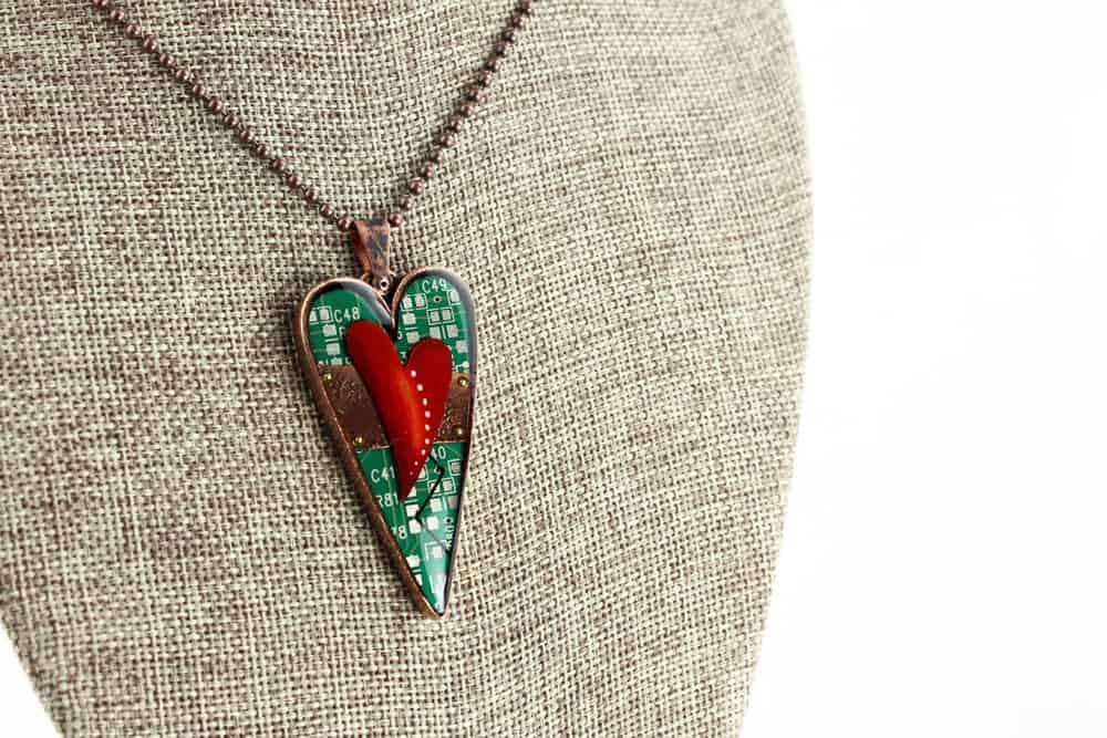Mended Hearts Pendant - Copper Heart 03