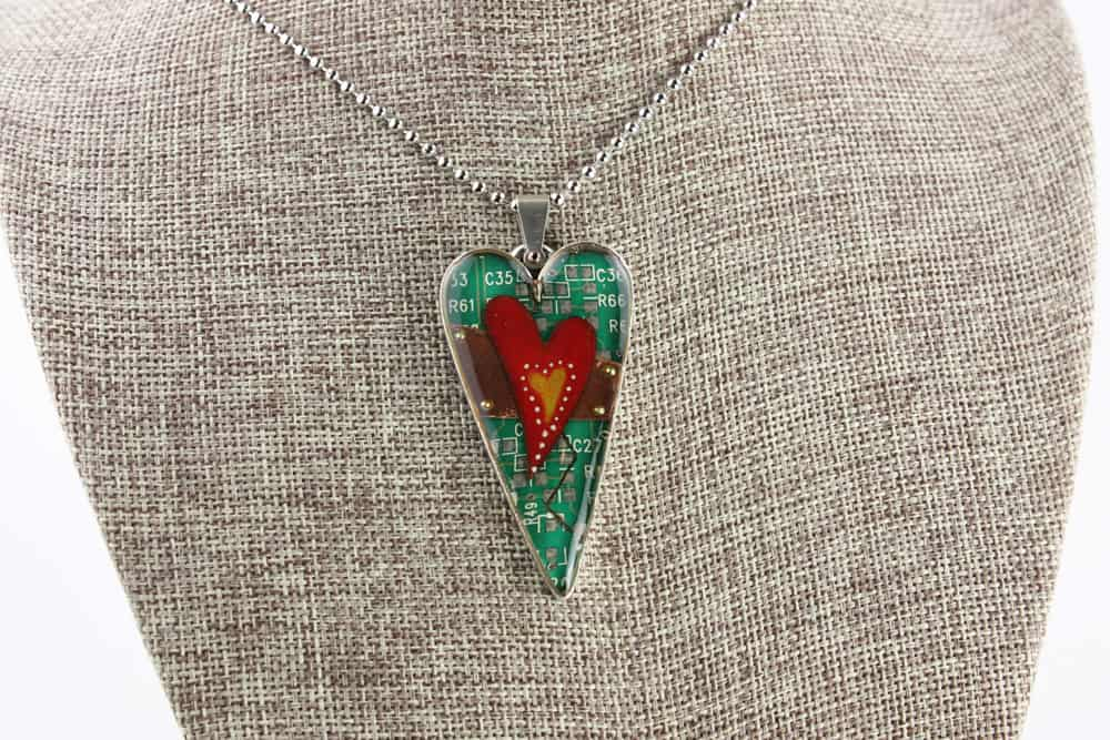 Mended Hearts Pendant - Silver Heart 03